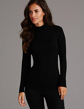Heatgen™ Thermal Turtle Neck Top with Cashmere