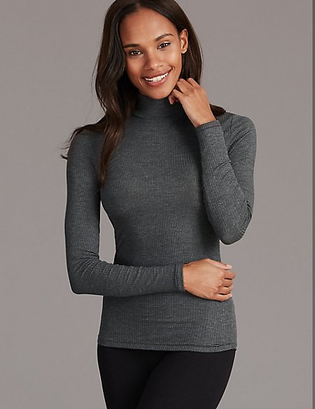 Thermal Long Sleeve Top with Cashmere