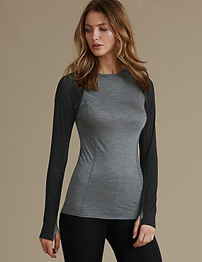 Long Sleeve Thermal Top with Merino Wool