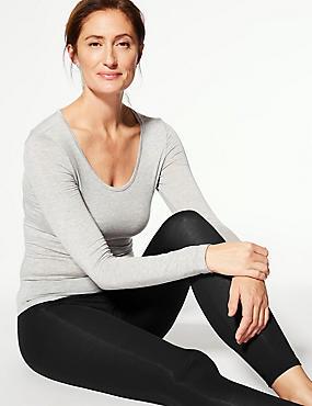 Modal Blend Body Sensor™ Leggings, BLACK, catlanding