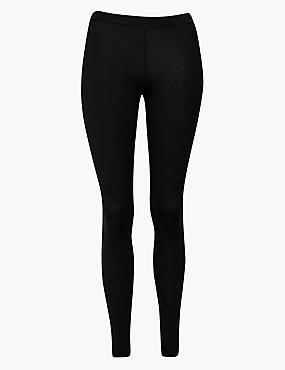 Heatgen™ Thermal Leggings with Cashmere, BLACK, catlanding