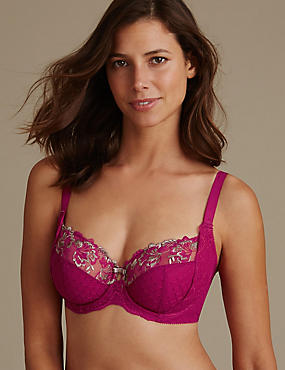 Ophelia Embroidered Non-Padded Balcony Bra DD-GG with Cool Comfort™ Technology