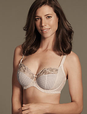 Ophelia Embroidered Non Padded Balcony Bra DD-GG with Cool Comfort™ Technology