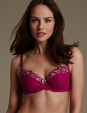 Ophelia Embroidered Non-Padded Full Cup Bra B-DD with Cool Comfort™ Technology