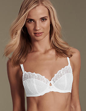 Ophelia Embroidered Non Padded Full Cup Bra B-DD with Cool Comfort™ Technology