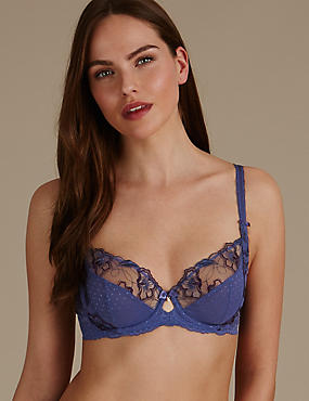 Floral Embroidered Non Padded Full Cup Bra