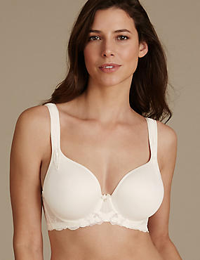 Floral Embroidered Spacer Bra DD-GG