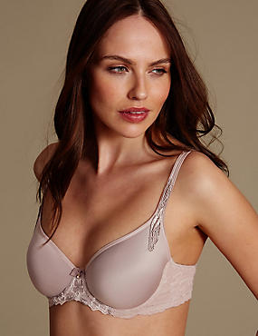 Floral Embroidered Spacer Balcony Bra