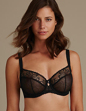 Arelia Lace Non Padded Underwired Balcony Bra DD-GG
