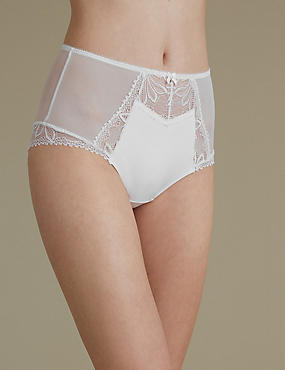 Arelia Lace High Waist Brazilian Knickers