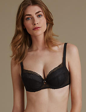 Arelia Lace Set with Padded Underwired Full Cup A-E