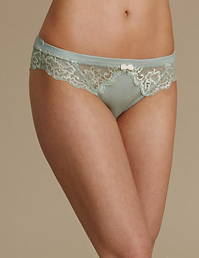 Sumptuously Soft with Ultimate Comfort Lace Brazilian Knickers