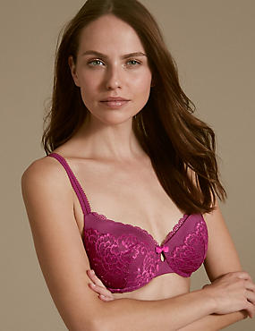 Sumptuously Soft Lace Set with Padded Full Cup A-E