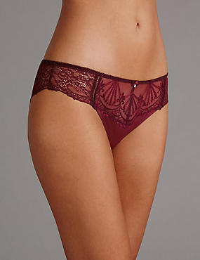 Ornamental Embroidery Brazilian Knickers