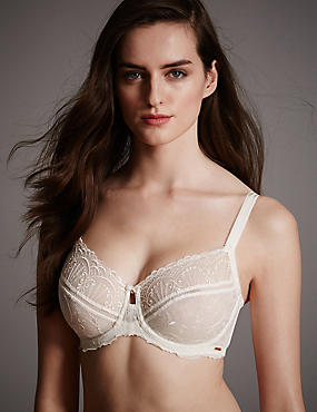 Ornamental Lace Minimiser Balcony Bra B-G