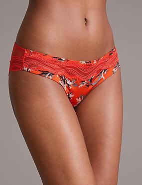 Lace & Lustre Brazilian Knickers, RED MIX, catlanding