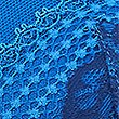 Lace Embroidered Padded Balcony Bra A- G, BRIGHT BLUE, swatch