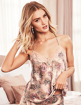 Silk & Lace Print Swing Camisole