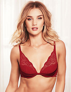 Silk and Lace Padded Beau Bra A-E
