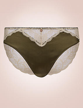 Silk & Lace High Leg Knickers