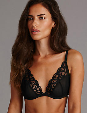 Embroidered Set with Non-Padded A-DD