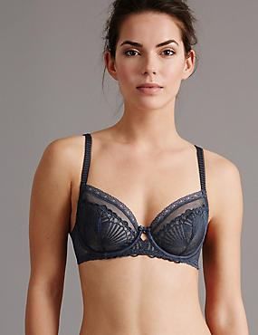 Embroidered Non-Padded Balcony Bra