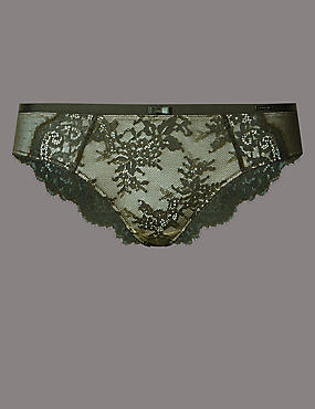 Dentelle Lace Low Rise Brazilian Knickers