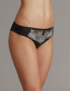 Applique Lace Brazilian Knickers
