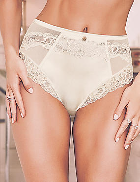Silk & Lace High Waisted Knickers