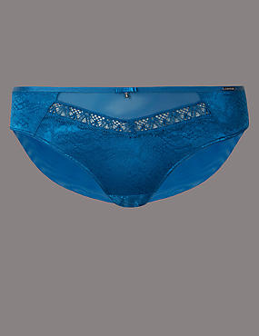 Satin Lace Brazilian Knickers