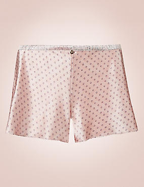 Silk Rich Spotted Print French Knickers