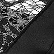 Silk & Lace Brazilian Knickers, BLACK, swatch