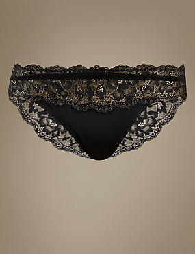 Sparkle Lace Brazilian Knickers