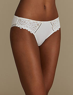 Lace Embroidered Brazilian Knickers
