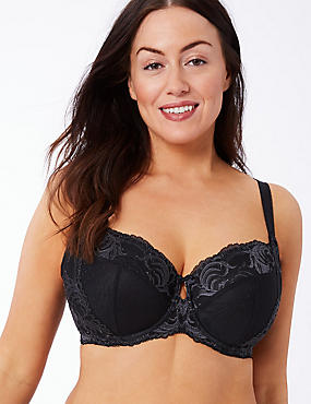 Sophia Lace Set with Non-Padded Underwired Balcony DD-GG