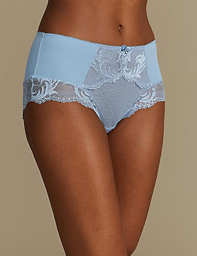 Sophia Lace High Rise Shorts, BLUE MIX, catlanding