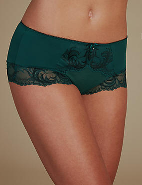 Sophia Lace High Rise Shorts, GREEN MIX, catlanding