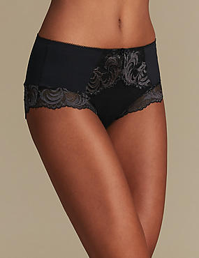 Sophia Lace High Rise Shorts, BLACK MIX, catlanding