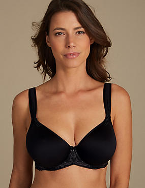 Lace Padded Full Cup Bra DD-GG, BLACK MIX, catlanding