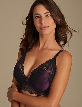 Artisan Lace Padded Set with Plunge DD-GG