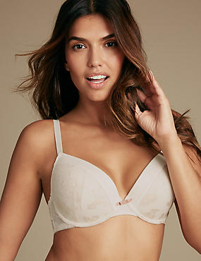 Burnout Padded Plunge Bra A-E