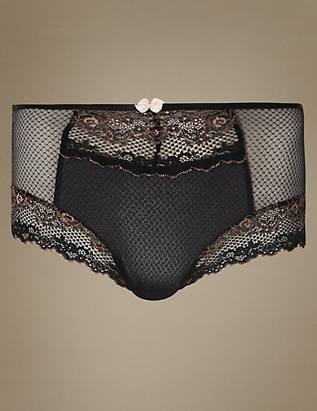 Lace High Waist Brazilian Knickers