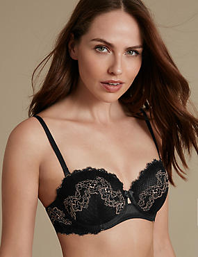 Lace Set with Strapless Padded A-DD