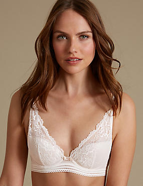 Artisan Lace High Apex Plunge Padded Bra A-E