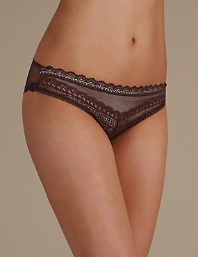 Geometric Lace Brazilian Knickers