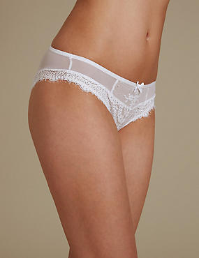 Eyelash Lace Brazilian Knickers