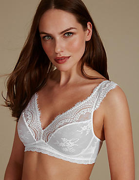 Eyelash Lace Non-Padded High Apex Bralet