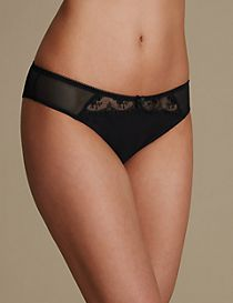 2 Pack Embroidered Brazilian Knickers