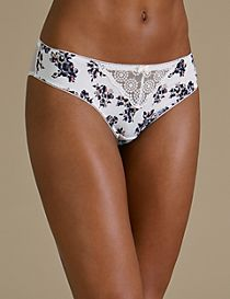 2 Pack Printed Brazilian Knickers