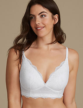 Embroidered Lace Non-Wired Bralet A-E